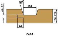 Фрезы для изготовления обшивочной доски вагонки, напаянные пластинами твердого сплава D180-d40-z4