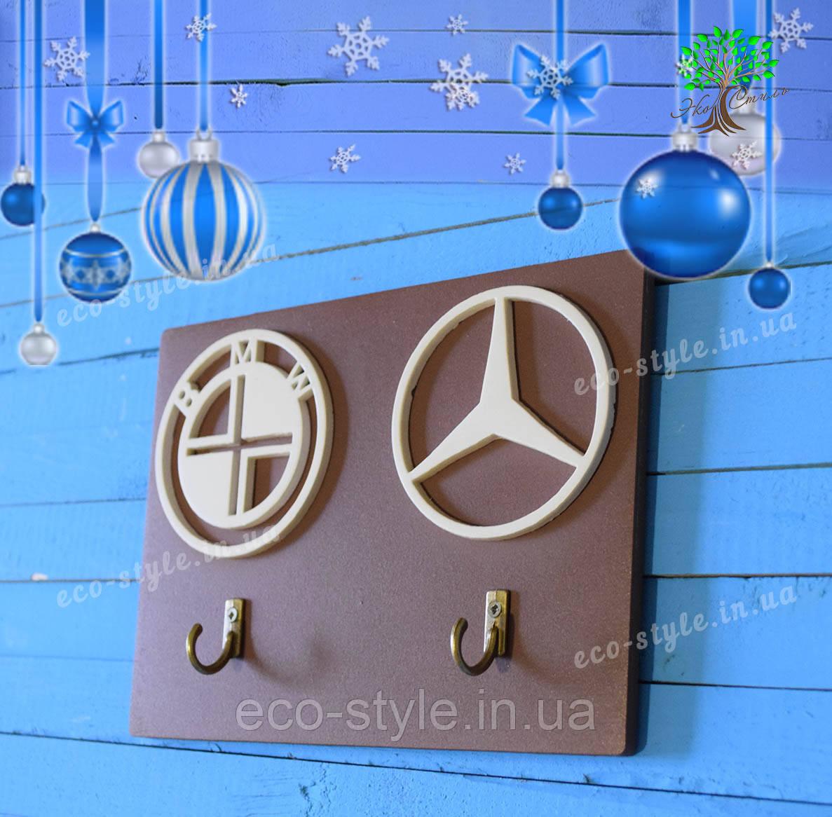 Деревянная ключница, подарок на новый год