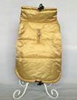 """Зимняя непромокаемая куртка для собак """"Стайл"""", размеры S, M, L, XL,  цвет - золото/зеленый"""