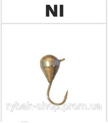 Блешня вольфрамова крапля з вушком, колір нікель