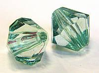 Бусины акриловые гранёные цветные, диаметр 15 мм - 1 шт.