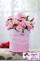 """Цветы в шляпной коробке """"Нежность"""""""