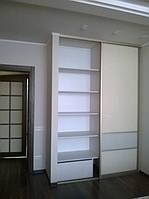 Шкаф-купе в спальню  с крашеным стеклом, фото 1