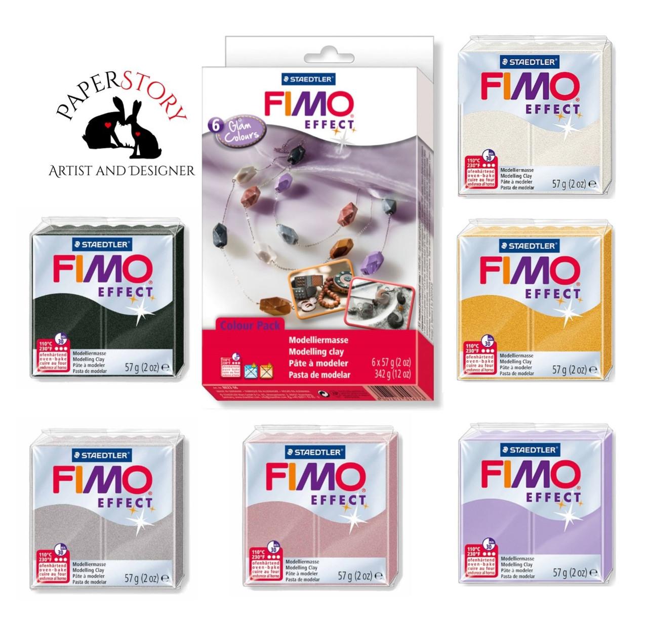Подарочный стартовый набор Фимо для лепки бижутерии 6х57г Glam Colours Fimo (Германия)