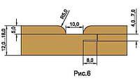 Фрезы для изготовления обшивочной доски вагонки, напаянные пластинами твердого сплава HM D180-d60-z4