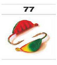 Мормышка вольфрамовая ракушка с ушком (покраска)