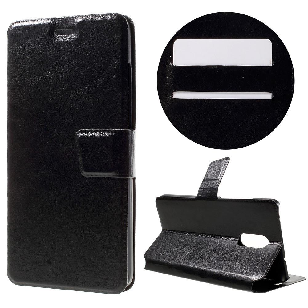 Чехол книжка для Xiaomi Redmi PRO боковой с отсеком для визиток, Гладкая кожа, BOSILANG Черный