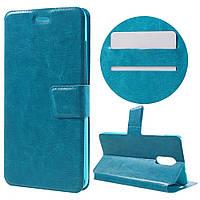 Чехол книжка для Xiaomi Redmi PRO боковой с отсеком для визиток, Гладкая кожа, BOSILANG Голубой