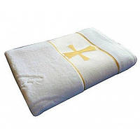 Крестильное полотенце - Крыжма хлопок 70*140 см. Турция Золото