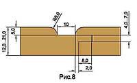 Фрезы для изготовления обшивочной доски вагонки, напаянные пластинами твердого сплава HM D137-d40-z3