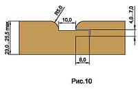 Фрезы для изготовления обшивочной доски вагонки, напаянные пластинами твердого сплава HM D150-d32-z4