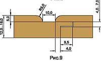Фрезы для изготовления обшивочной доски вагонки, напаянные пластинами HSS D160-d40-z4, фото 1