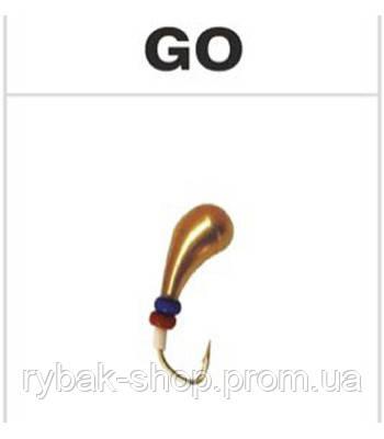 Мормышка вольфрамовая чесночинка с отверстием, цвет золото