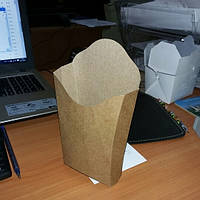 Упаковка для картофеля фри из Крафт картона, фото 1