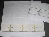 Крестильное полотенце - Крыжма хлопок 70х140 см. Турция цвет серебро, фото 1
