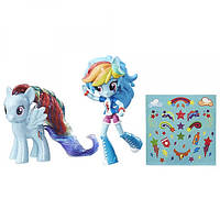 My Little Pony Рейнбоу Деш  куколка и пони Elements of Friendship Rainbow Dash Pony and Doll Set