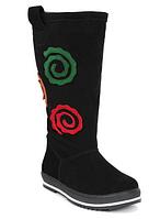 Замшевые сапоги для девочек 11shoes размер 33 34 35 37