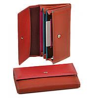 Кошелек Rainbow кожа dr.Bond WRS-1 red.Женские кожаные кошельки продажа оптом Одесса 7 км