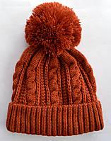 """Женская шапка Arctic """"Венера"""" терракотовая"""