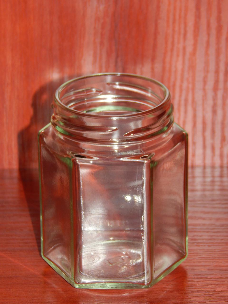Банка стеклянная 196 мл с горловиной твист 58 Шестигранник (20 штук в упаковке)