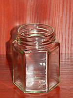 Банка стеклянная 196 мл с горловиной твист 58 Шестигранник (20 штук в упаковке), фото 1