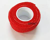 Защитный пластырь ( бинт)  для ногтей Skin-Rap красный  №5