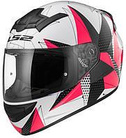 Шлем LS2 FF352 Rookie BRILLIANT, WHITE-PINK, M