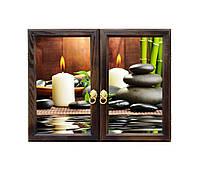 Ключница настенная деревянная 50х40cм с фото под стеклом