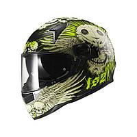 Шлем LS2 FF396 FT2 DART FRANTIC, MATT BLACK YELLOW, L