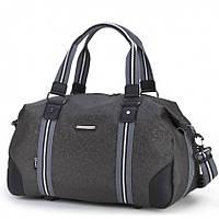 Спортивная сумка Dolly 933 черная и серая Украина