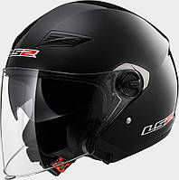 Шлем LS2 OF569 TRACK, GLOSS BLACK, S