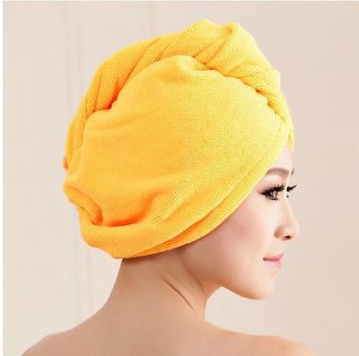 Тюрбан для сушки волос из микрофибры Hair Wrap персиковое