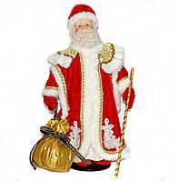 Дед Мороз в красной шубе с белым мехом (40 см.)