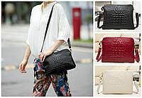 Женская сумка клатч Натуральная Кожа крокодилий принт