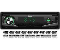 Автомагнітола Fantom FP-385 USB/SD 1 Din Black/Green