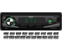 Автомагнитола Fantom FP-395 USB/SD 1 Din Black/Green