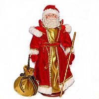 Дед Мороз в красной шубе с золотом (40 см.)