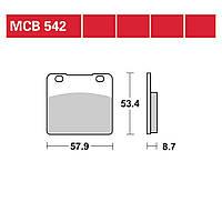 Тормозные колодки TRW / Lucas MCB542