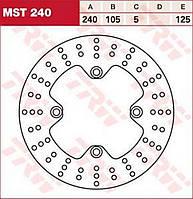 Тормозной диск TRW / Lucas MST240