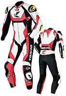 Мотокомбинезон RS TAICHI GP-WRX R304 кожа красный белый черный LW52