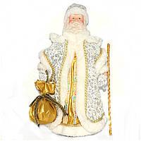 Дед Мороз белый (с золотом и серебром)