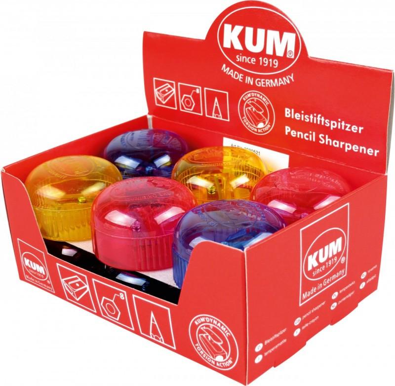 Точилка KUM с контейнером 210K Ice пласт. круглая