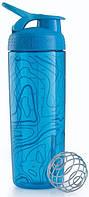 Шейкер для спортивного питания BlenderBottle 820ml АКВА, защита от протечки