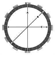Диски сцепления фрикционные TRW / Lucas MCC225-12