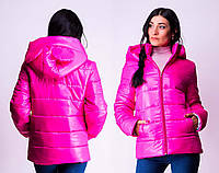 Женская демисезонная куртка с ушками, разные цвета