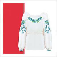 Заготовка сорочки-вышиванки для девочки