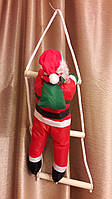 Гирлянда Дед Мороз на лестнице 50см