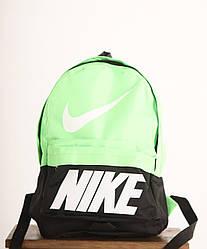Рюкзак Nike черно-салатовый реплика