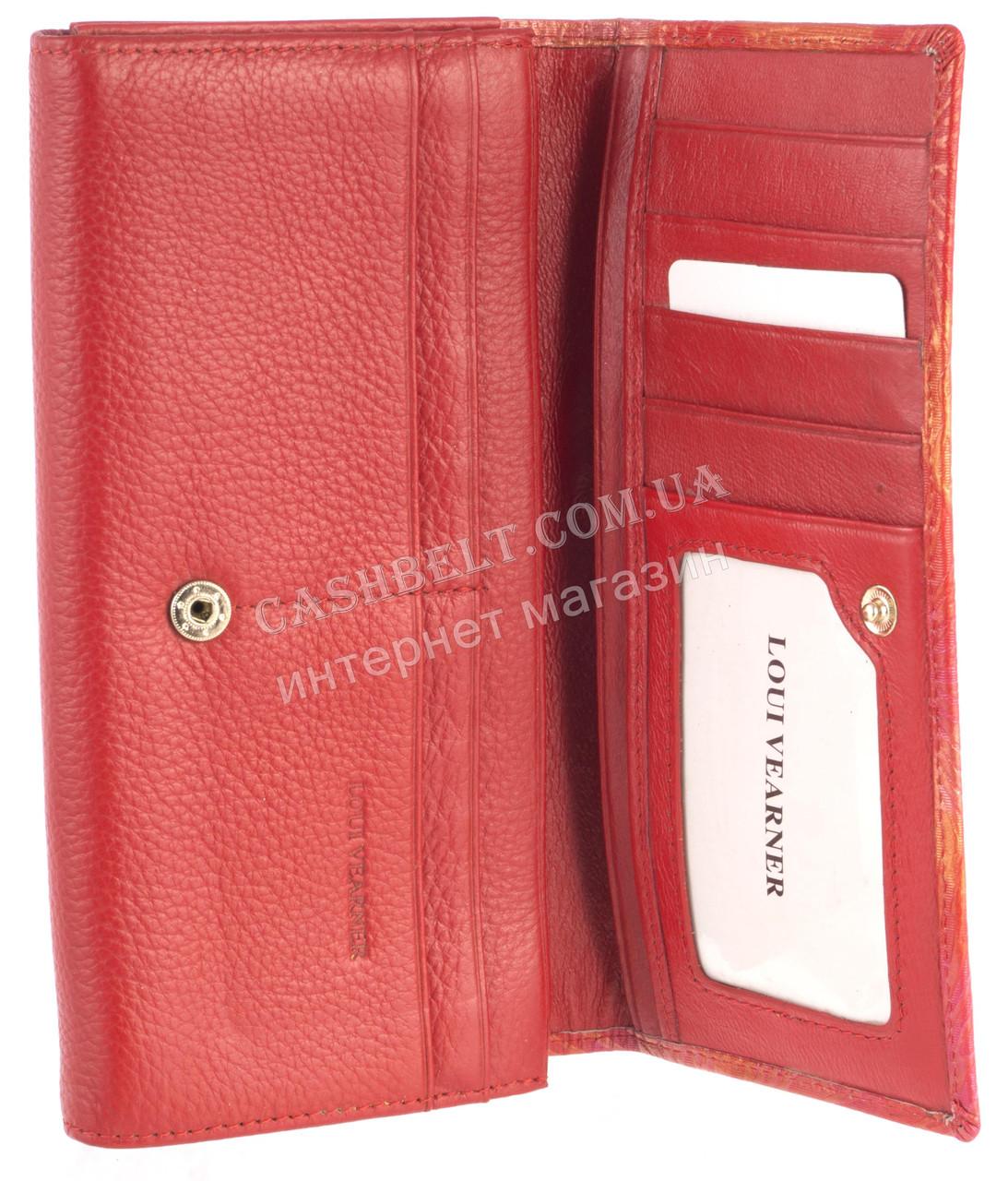 c30d2cb1e0d1 ... фото Красивый женский кожаный кошелек высокого качества LOUI VERNER  art.039-02B красный, ...