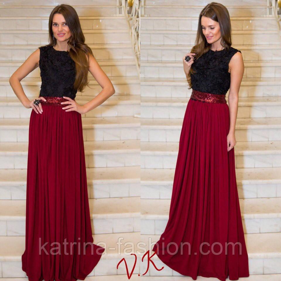 f2c4c8a39919 Женское модное вечернее платье (2 цвета) - KATRINA FASHION - оптовый  интернет-магазин